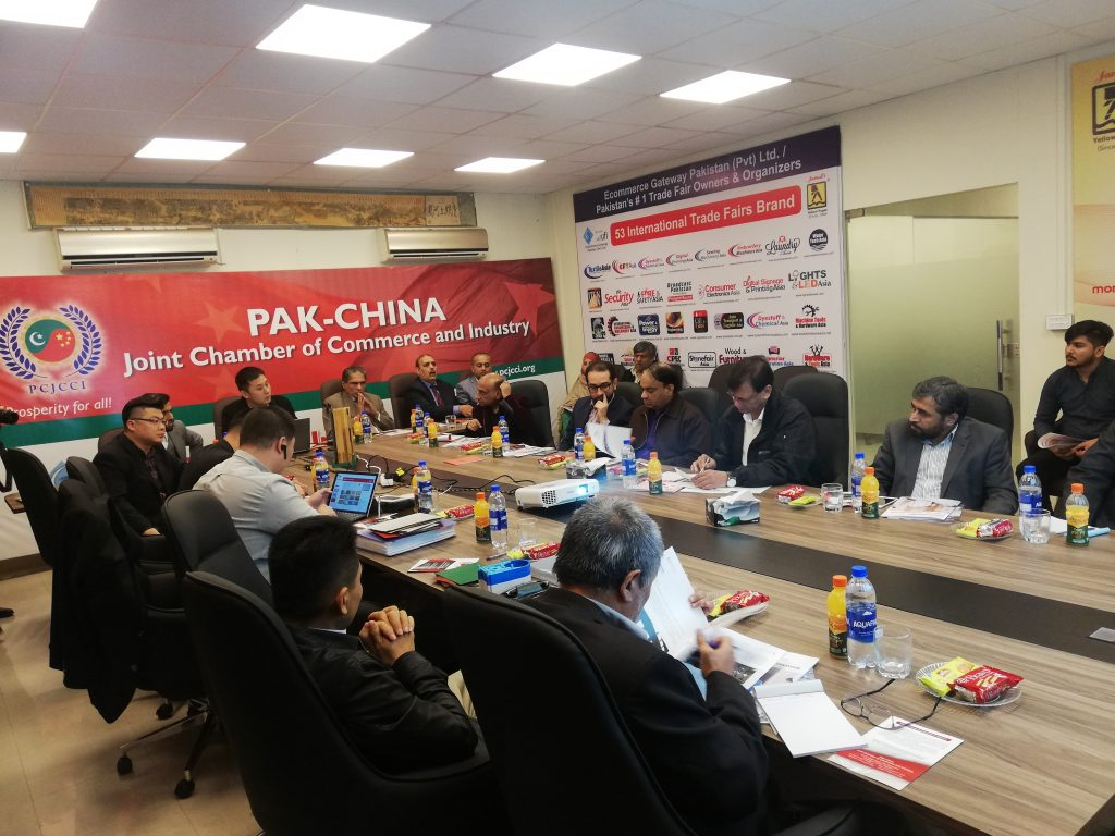 six-member Chinese business delegation